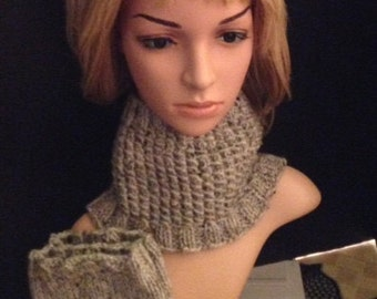 Neck warmer and boot cuffs