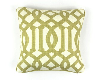 Schumacher Kelly Wearstler Imperial Trellis Pillows with welting - Comes in 11 Colors (Shown in Citrine - Both Sides)