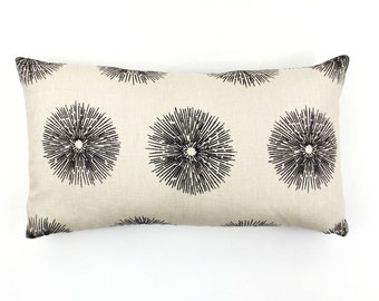 Kelly Wearstler for Lee Jofa Sea Urchin Pillow (comes in Ebony/Ivory and Teal)