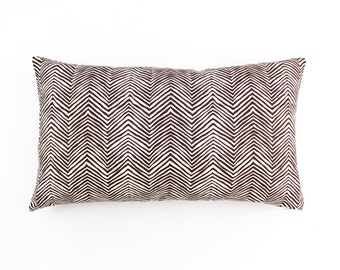 Quadrille Alan Campbell Petite Zig Zag Pillows - (Shown in Brown on Tint-comes in 15 colors)