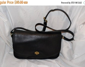On Sale COACH~Coach Bag~ RARE 1980s~Vintage Coach City Bag~Black Coach