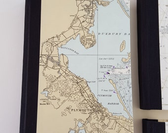 Adventure Journal - Cape Cod Vintage Nautical Map Travel Journal - Pocket Journal - Father's Day Gift - Graduation Gift