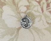 "Vintage Retired James Avery Sterling Silver ""Moon and Stars"" Charm ""Love You To The Moon And Back"""