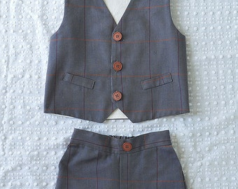 Newsboy Vest and Bow Tie Set