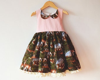 Little Fawn Tea Party Dress in Pink