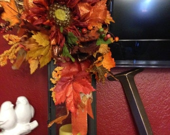 Colorful fall lantern swag!