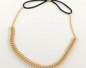 Gold Fishbone Headband