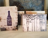 Set of 4 blank note cards - greeting cards - French photography - shabby chic - romantic - antique