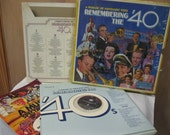 Vintage Vinyl Parade of Nostalgic Hits Remembering the 40's Great Years of Music Songs and Artists Set of 7 Records in Album Good Condition