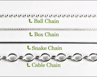 Women's Sterling Silver Box Chain - New Chain or Chain Replacement - a.k.a. originals