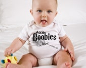 Funny Harry Potter Baby Onesie - Accio Boobies NEW Design