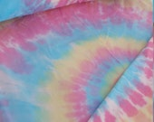 Extra Long Twin sheet set fitted, flat and pillow case 100% cotton. Pastel spiral rainbow student college gift