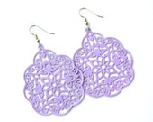 Lilac Filigree Bohemian Drops . Earrings . Mila Collection