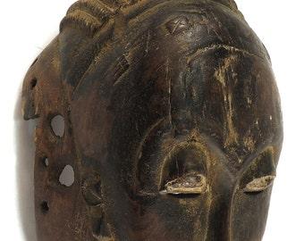 Baule Portrait Mask Kpan Mblo Ivory Coast African Art 95995