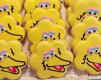 Big Bird cookie favors