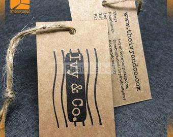 500 kraft hang tags, custom brown tags, brown paper hang tags,