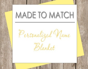 Personalized Name Photo Prop Blanket - Made to Match (most designs in our shop)