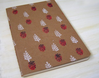 Strawberry Patch Sketchbook or Notebook