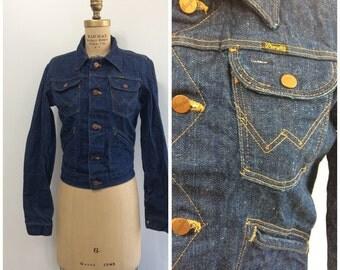 Vintage 1960s 1970s Wrangler Denim Jean Jacket 60s 70s