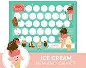 Kids Reward Chart  - Ice Cream - Chore Chart for Kids - Incentive Chart
