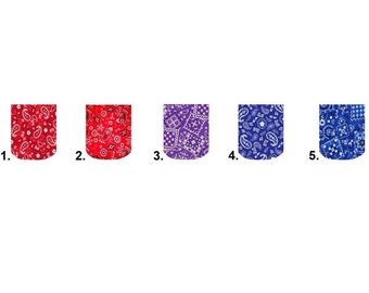 Waterslide Full Nail Decals Set of 10 - Bandana Paisley Red, Blue or Purple