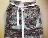 Custom order for Cheri / Reserved / vintage pillowcase apron / upcycled half apron with lace