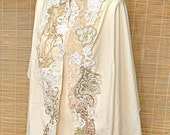 HOLIDAY SALE - reserved for  Sandie   Tallit (prayer shawl) beautifully decorated with Vintage Lace - Perfect for Wedding or Bar/Bat Mitzvah