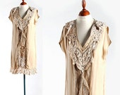 SALE 30% Classic Romantic Retro Dress, decorated with various Vintage Laces, all in Beautiful 1920s Style