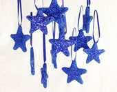 SALE PENDING Drastically Reduced Clearance 12 Unique Handmade Sugar Fun Star Ornaments Christmas Gifts Favors Decoration  Secret Santa Gifts