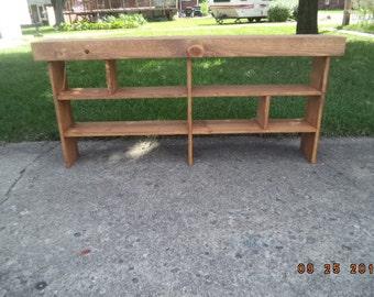 console table sofa table entryway table narrow recycled material custom made farmhouse style