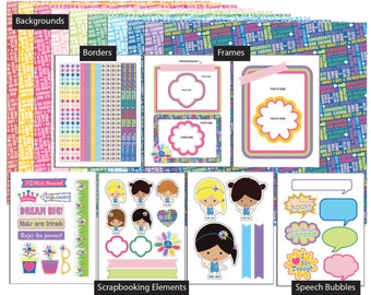 Daisy Girl Scouts Scrapbooking Elements - Printable Instant Download