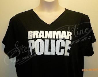 Grammar Police Regular Vinyl T-shirt