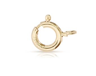 14Kt Gold Filled 5mm Spring Ring With Open Ring - 20pcs Wholesale Price (3012)/1