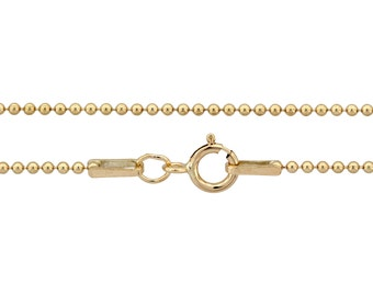 Ball Chain with clasp 14Kt Gold Filled 1.2mm 20 Inch  - 1pc Neck chain (3088)/1