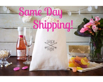 Bride Tribe Favor Bags - Bachelorette Party Favors - CUSTOM QUANTITY - Ready To Ship