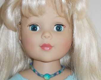 """OOAK doll jewelry/necklace for dolls - """"Opalesque"""""""