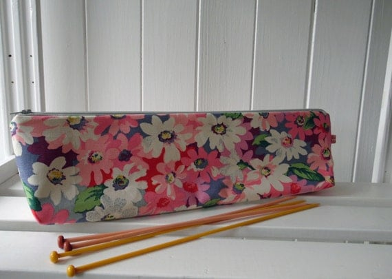 Knitting needle bag pouch Cath Kidston Floral print acrylic