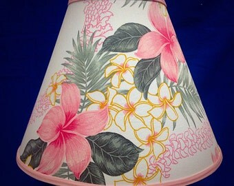 Hibiscus Floral Lamp Shade