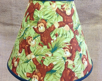 Monkey Leaves Lamp Shade