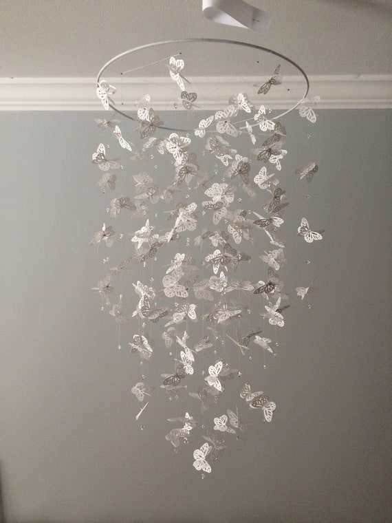 Bling bling monarch butterfly chandelier mobile simply like this item mozeypictures Choice Image