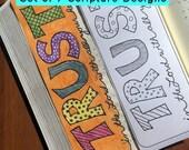 Bible Journaling Coloring Set DIGITAL DOWNLOAD Bible Verse Printable (Set #1)