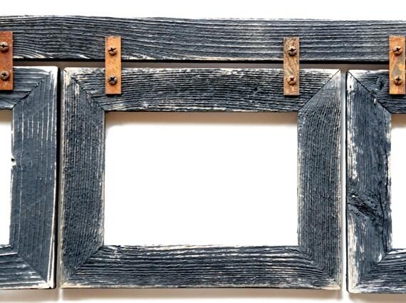 Barnwood Collage Frame 3 Hole 8x10 Multi Opening Frame