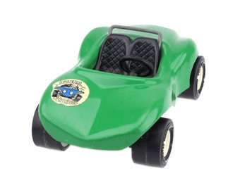 Vintage Tonka Green Conertible Dune Buggy Baja Racer / Tonka Pressed Metal Toy Car / F670..