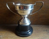 Vintage English EPNS Silver Plated Metal Trophy Cup Un-Engraved Award Prize Trophies circa 1950-60's / English Shop