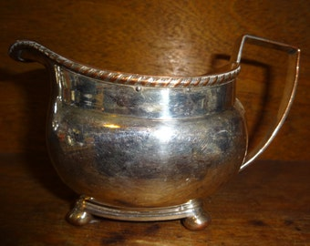 Vintage English Silver Plate Metal Gravy Sauce Boat Jug Pitcher circa 1920-30's / English Shop