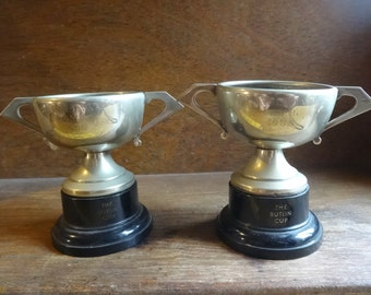 Vintage English The Butlin Trophy Cup Veleta A.Y.R. Award Prize Trophies Patina SOLD INDIVIDUALLY circa 1958 / English Shop
