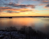 Monday, Monday, January Sunrise,   My City By The Bay, The Maine Winter View, SPECIALIZING in CUSTOM ORDERS