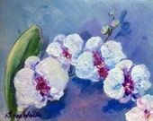 Orchids Painting Orchids  Floral Original Art 8 x 10