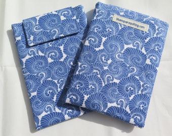 Kindle Paperwhite Case, Kindle Paperwhite Sleeve, Kindle Paperwhite Cover - Kindle Voyage - blue swirls