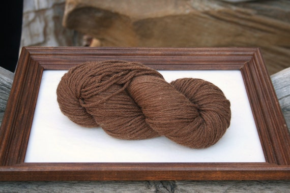 SUPER-SIZED SKEIN! Royal Baby Alpaca Yarn Bulky Weight Rich Sepia 200 grams Super sized
